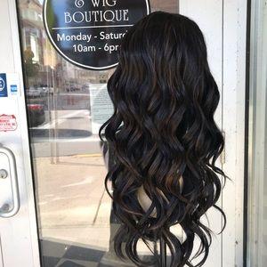 Accessories - Wig Swisslace Lacefront Deep Wave Black Long 2019